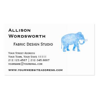 Baby Boy Blue Elephant Business Card