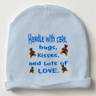 Baby Boy Blue Handle with Love beanie hat.