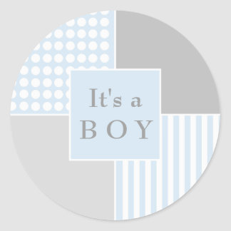 Baby Boy Blue Modern Sticker