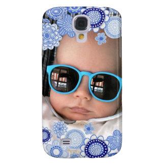 Baby Boy Blue Painted Fine Art Photo Frame Samsung Galaxy S4 Case