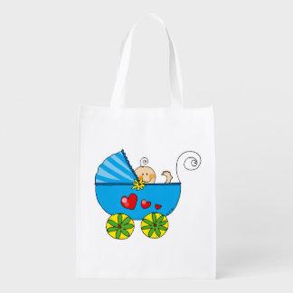 baby boy (blue pram) grocery bags