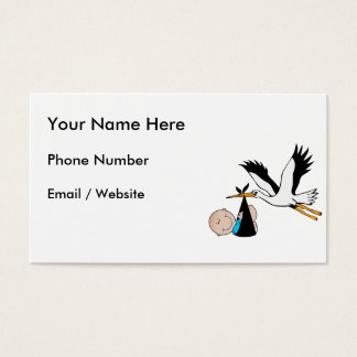 Baby Boy Blue & Stork Business Card
