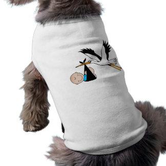 Baby Boy Blue & Stork Shirt