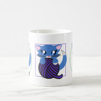Baby Boy Blue Toon Kitten Skye Mug