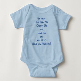 Baby Boy Bodysuit with 3-Snaps Easy Change