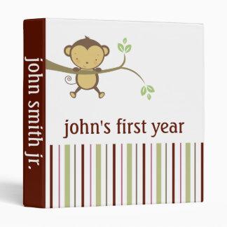 Baby Boy Book First Year Monkey 3 Ring Binder