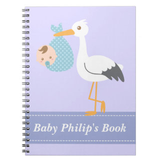 Baby Boy Book - Stork Delivers Baby Boy Note Books