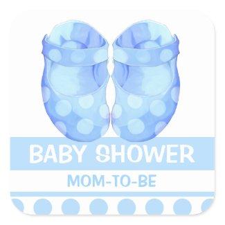 Baby Boy Booties Baby Shower Gift Sticker sticker