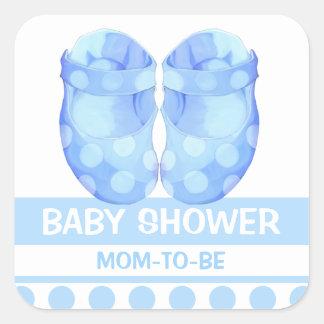 Baby Boy Booties Baby Shower Gift Sticker