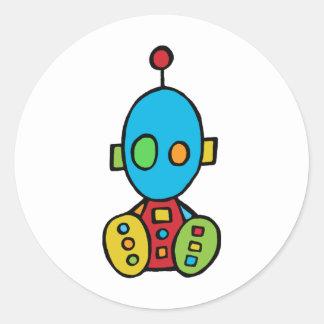 Baby Boy Bot Round Sticker