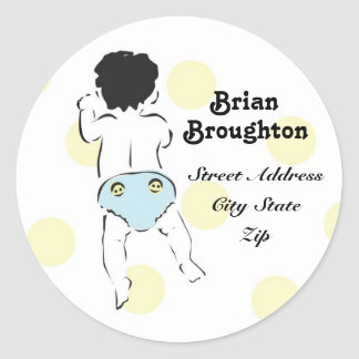 Baby Boy Bottom Address Label