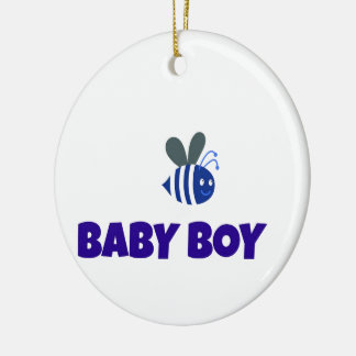 Baby Boy Bumble Bee Ceramic Ornament