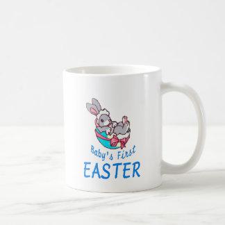 Baby Boy Bunny First Easter Coffee Mug