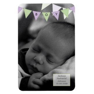 Baby Boy Bunting 6x4 Photo Magnet Keepsake