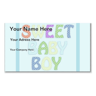 Baby Boy Business Card