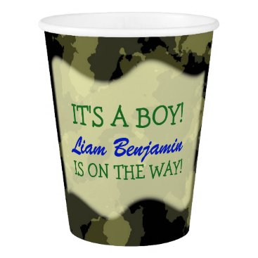 Baby Boy - Camo Themed Baby Shower Paper Cup