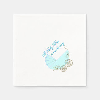 Baby Boy carriage Shower Party Napkins customize
