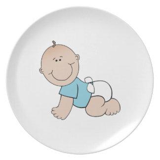 Baby boy cartoon plate