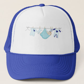 Baby Boy Clothes Line Trucker Hat