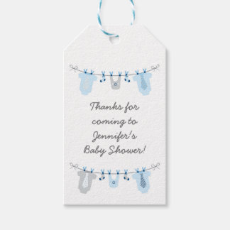 Little man baby shower gift tags zazzle baby boy clothesline baby shower gift tags negle Gallery