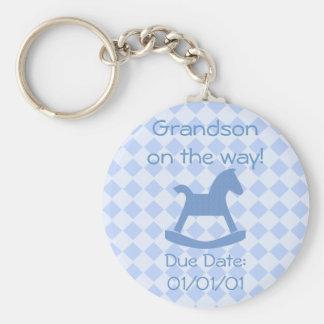 Baby Boy Collection Basic Round Button Keychain