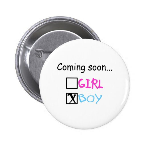 Baby Boy Coming Soon Button