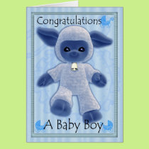 baby boy congratulations, new baby card