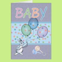 Baby Boy congratulations new baby Card