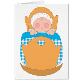 Baby Boy Cradle Card
