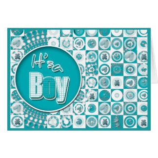Baby boy cute modern announcement cards