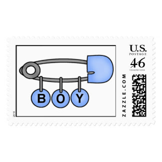 Baby Boy Diaper Pin Postage