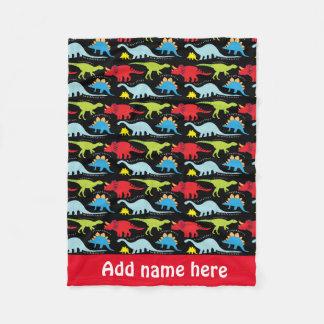 baby boy dinosaur pattern fleece blanket