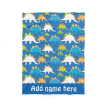 baby boy dinosaur pattern fleece blanket