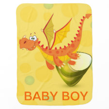 Baby Boy Dragon Blankie Baby Blankets