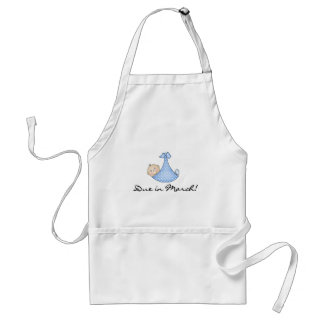 Baby Boy Due in March Adult Apron