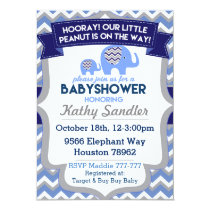 Baby Boy Elephant Baby Shower Invitations