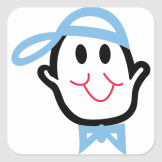 Baby Boy Face Square Sticker