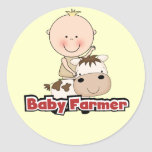 Baby Boy Farmer With Cow Tshirts and Gifts Sticker