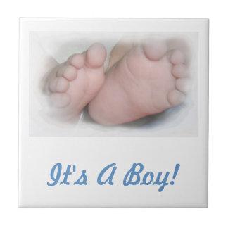 Baby Boy Feet Tile