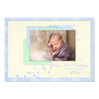 Baby Boy First Christmas Card