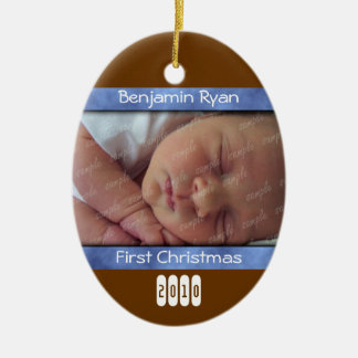 Baby Boy First Christmas Personalized Ornament