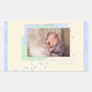 Baby Boy First Christmas Sticker