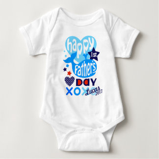 Baby Boy First Fathers Day Whale Shirt