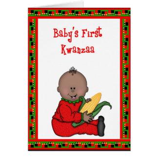 Baby Boy First Kwanzaa Greeting Card