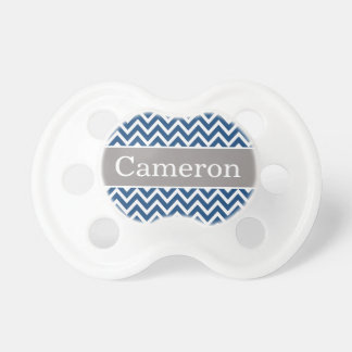 Baby Boy First Name | Navy Chevron Pacifier