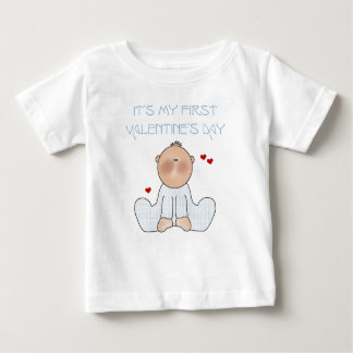 Baby Boy First Valentine's Day Baby T-Shirt