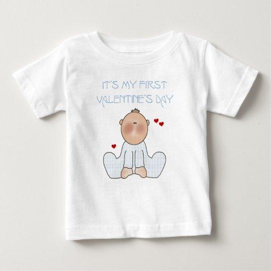 Baby Boy First Valentine's Day Baby T-Shirt