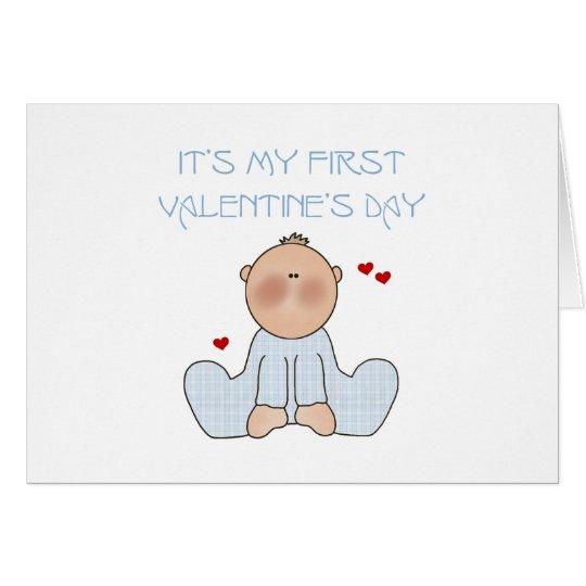 Baby Boy First Valentine's Day Card
