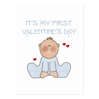 Baby Boy First Valentine's Day Postcard