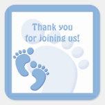 Baby Boy Footprint Little Feet Party Favor Sticker